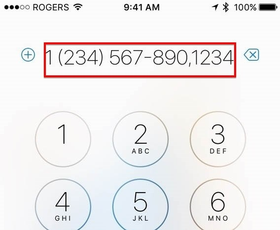 Phone Number Pause
