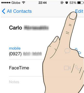 merge contacts on iphone and ipad