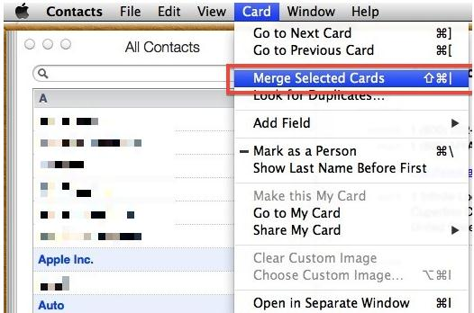 merge contacts on iphone and mac