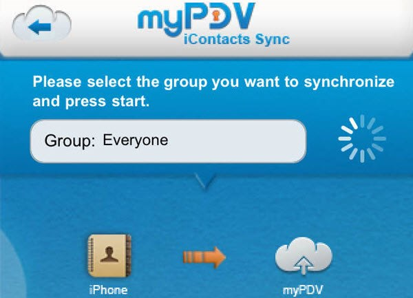 myPDV iContacts Sync