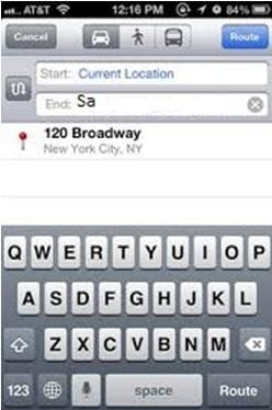 navigate to iphone contacts