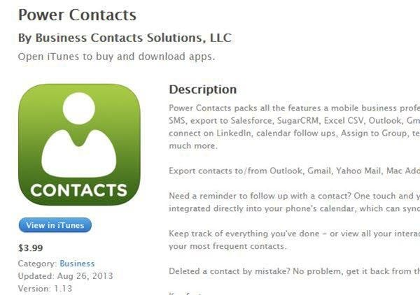 Top 10 iPhone Contacts App