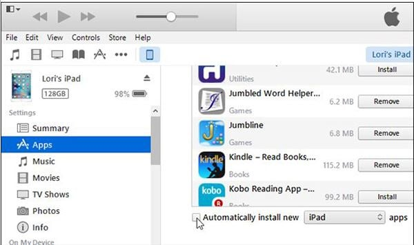 How to Sync Apps from iPhone to iPad