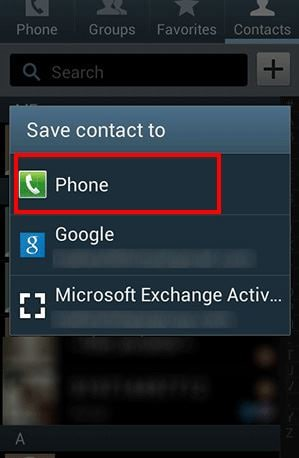 import samsung contacts