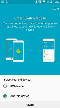 choose Android device
