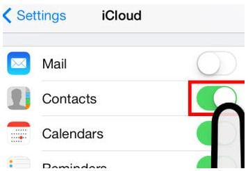 save contacts from iphone to icloud