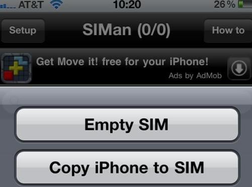 save iphone contacts to sim card