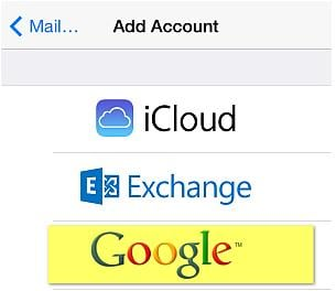 send contacts from iphone to gmail