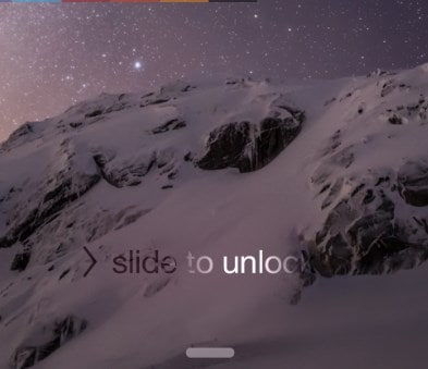 slide right to unlock