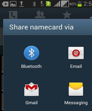 transfer contacts from android to android with bluetooth