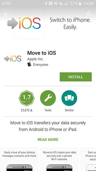 install Move to iOS