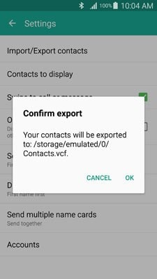 transfer contacts from samsung to samsung using vcard files