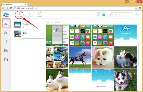click upload icon
