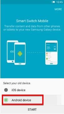 transfer data between Samsung