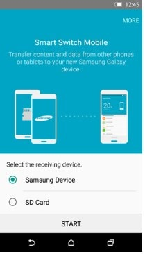 transfer data from samsung to Samsung using Samsung smart switch