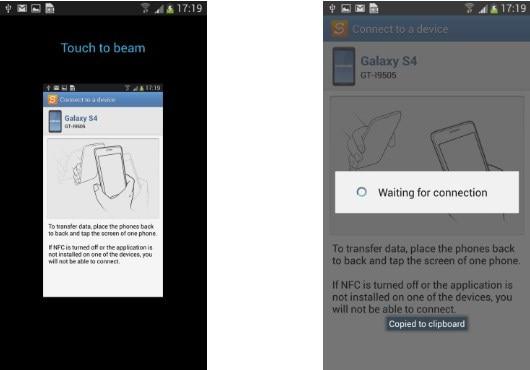 turn on Samsung NFC