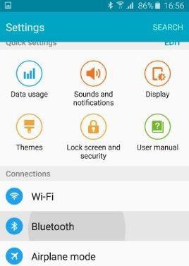 click Bluetooth