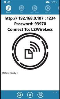 wifi file transfer windows phone data
