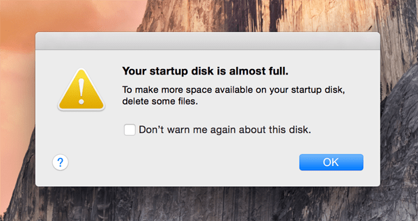 How to Fix 'Your Startup Disk is Almost Full' on Mac OS X (El Capitan)