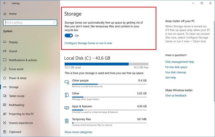 how to delete temporary files in windows