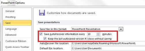 microsoft powerpoint document recovery