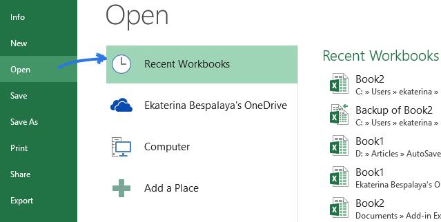 open-recent-workbooks