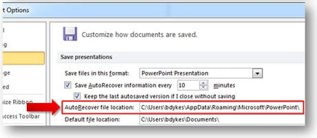 how to recover not saved powerpoint file