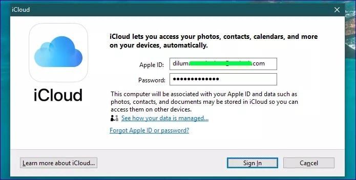 login apple id