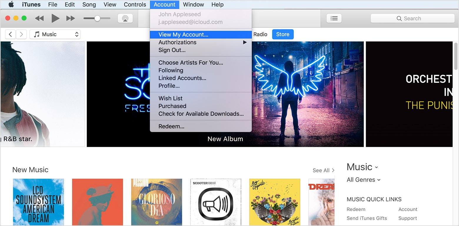 Authorize iTunes