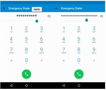 unlock android phone using emergency call