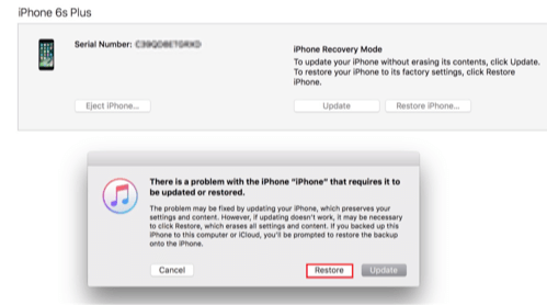Bypass iPhone 6 Passcode/and iPad in Recovery Mode