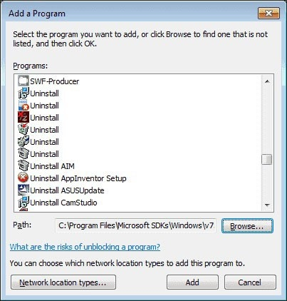 choose the respective software
