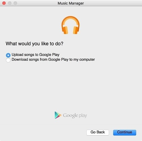 upload music from your computer to Google Play Music