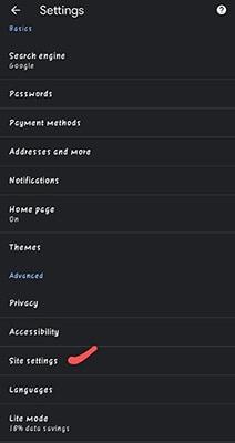 enable javascript on chrome