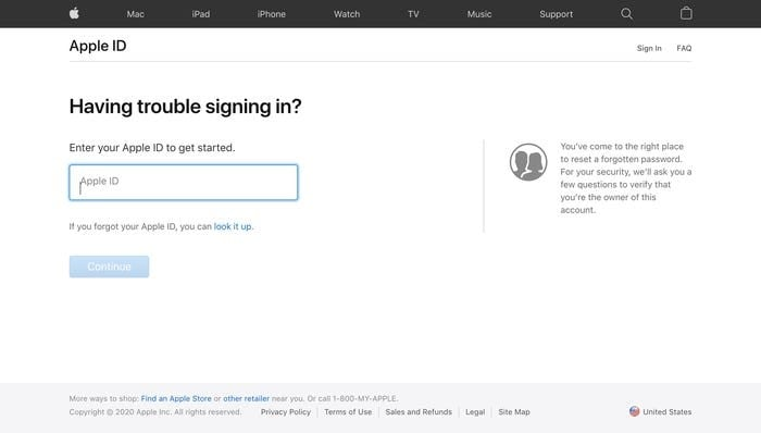 enter the password and apple id