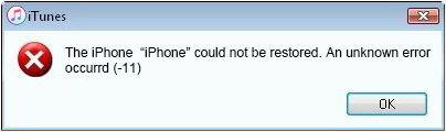 iPhone Error 11