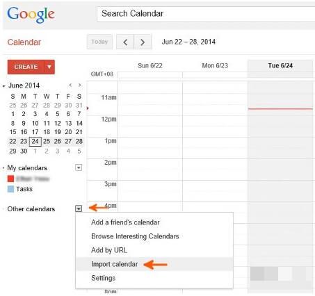 google export samsung calendar