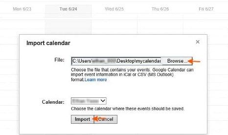 export samsung calendar via Google account