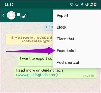 export whatsapp chat history