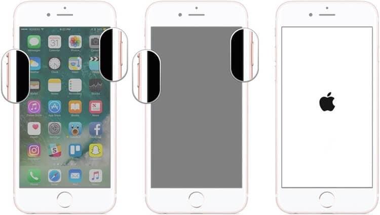 force restart bricked iPhone 7