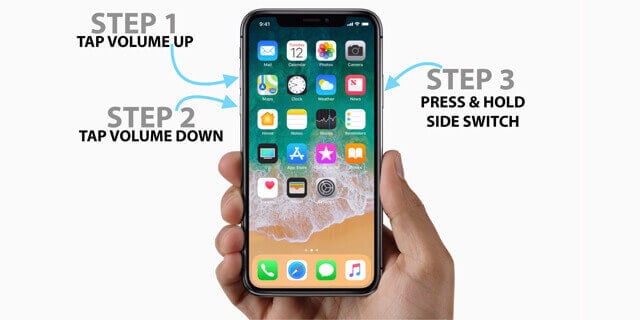 force restart the frozen iPhone