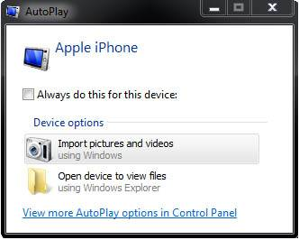 autoplay import pictures videos
