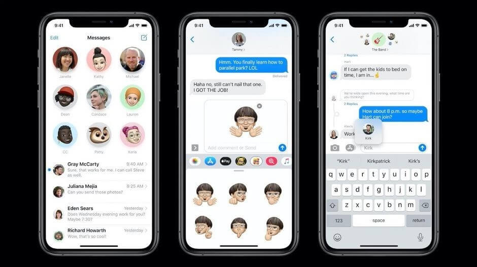 ios 14 messages new design