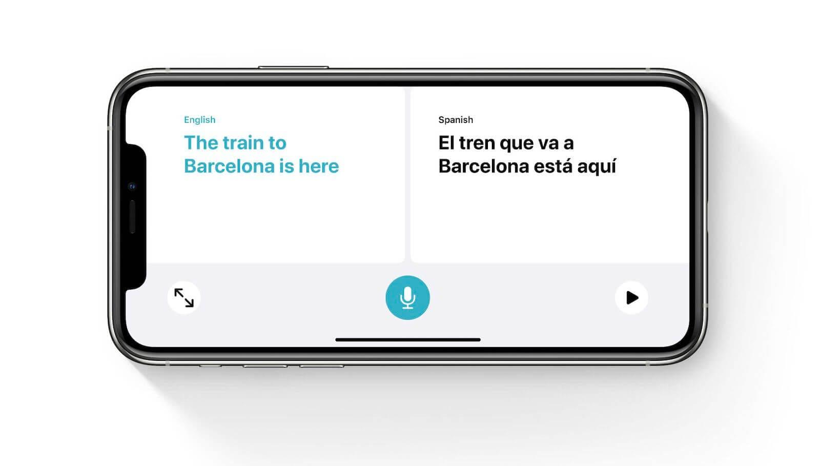 translate app in ios 14