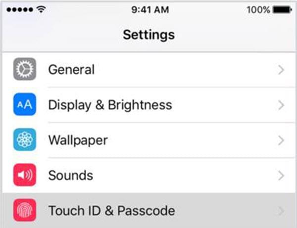 set a new passcode