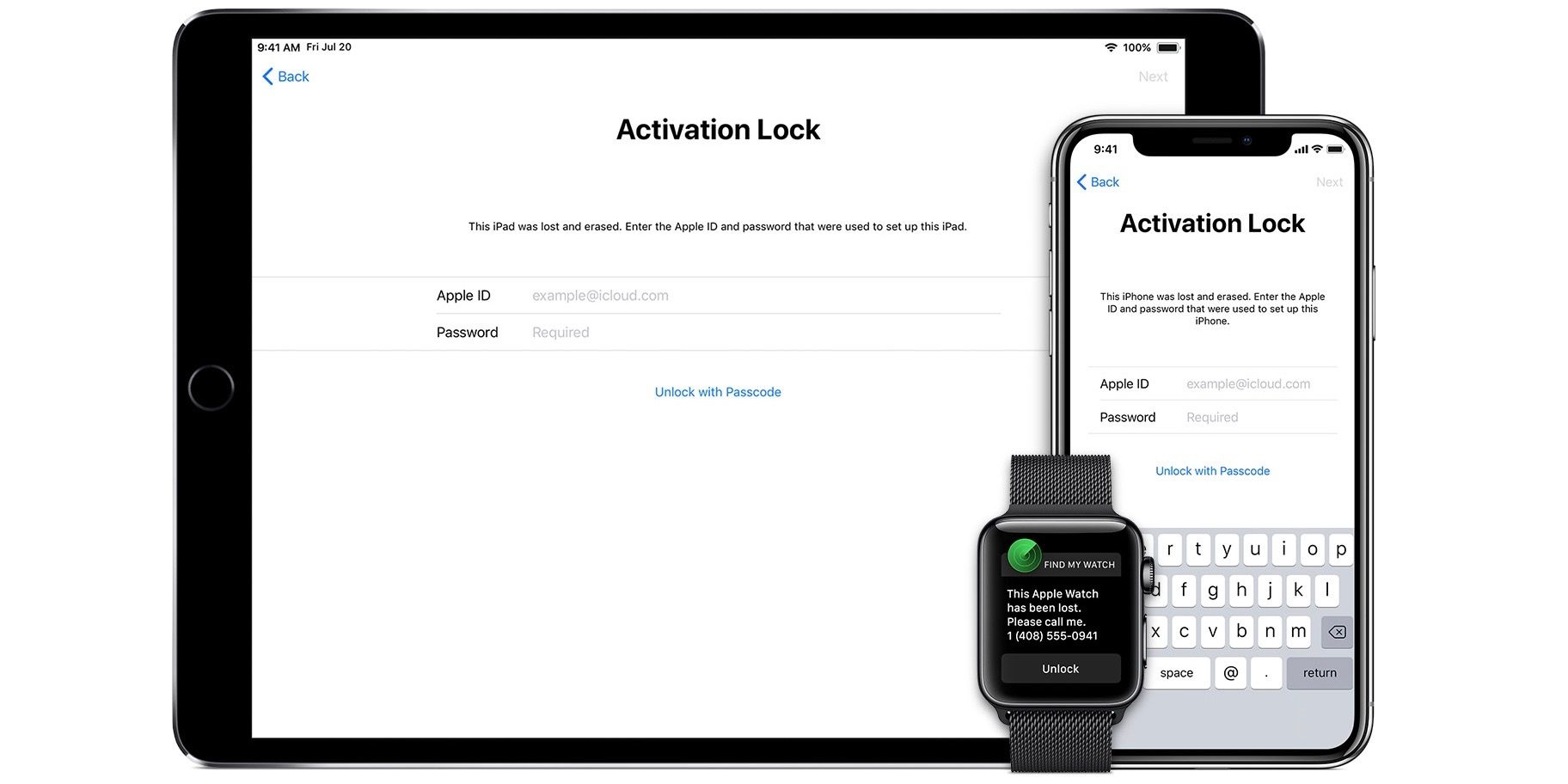 how to unlock apple watch without apple id and password