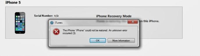 iTunes error 3