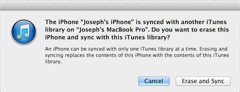 the contents will be overwritten with itunes