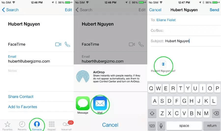 Manually Move Contacts From iPhone To Samsung