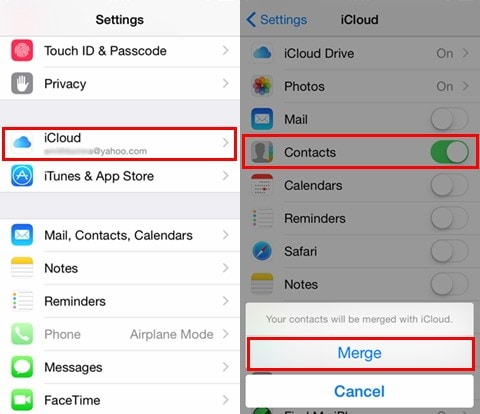 how do i restore iphone contacts from icloud
